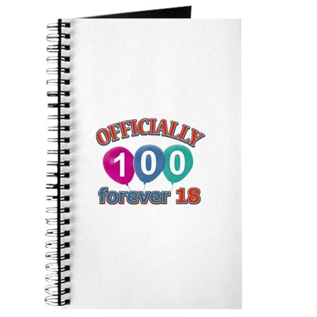 Officially 100 forever 18 Journal