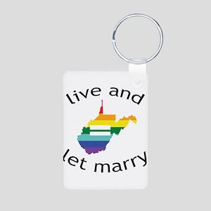 West Virginia live marry blk font Keychains