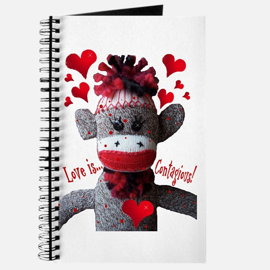 Love is Contagious Sock Monkey Valentine Journal