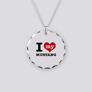 I love my MUSTANG Necklace Circle Charm