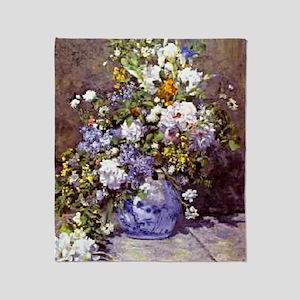 Renoir - Blue Vase Throw Blanket