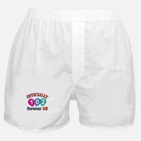 Officially 102 forever 18 Boxer Shorts