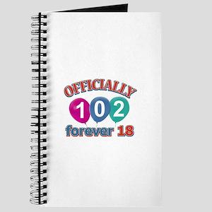 Officially 102 forever 18 Journal