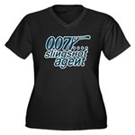 slingshot Women's Plus Size V-Neck Dark T-Shir