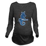 seahorse Long Sleeve Maternity T-Shirt