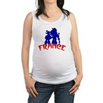 french poodles Maternity Tank Top