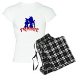 french poodles Women's Light Pajamas