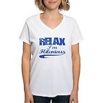 hilarious Women's V-Neck T-Shirt