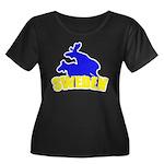 Sweden Women's Plus Size Scoop Neck Dark T-Shirt