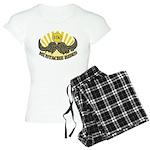 mustache ride Women's Light Pajamas