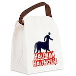 half man Canvas Lunch Bag