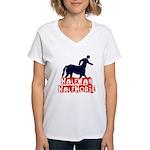 half man Women's V-Neck T-Shirt