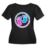 baby Women's Plus Size Scoop Neck Dark T-Shirt