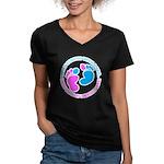 baby Women's V-Neck Dark T-Shirt