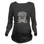skull Long Sleeve Maternity T-Shirt