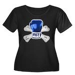 fist Women's Plus Size Scoop Neck Dark T-Shirt