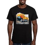 iron wolf Men's Fitted T-Shirt (dark)