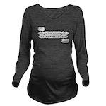 dabar Long Sleeve Maternity T-Shirt