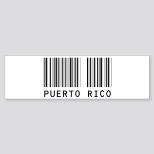 PUERTO RICO Barcode Bumper Sticker