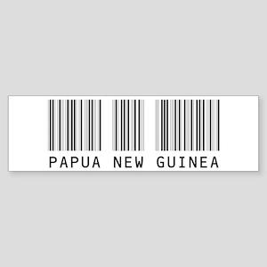 PAPUA NEW GUINEA Barcode Bumper Sticker