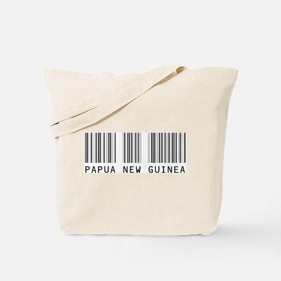 PAPUA NEW GUINEA Barcode Tote Bag
