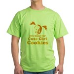 bite me1 Green T-Shirt
