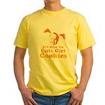 bite me1 Yellow T-Shirt