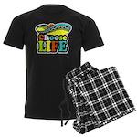 chose life Men's Dark Pajamas