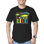 chose life Men's Fitted T-Shirt (dark)