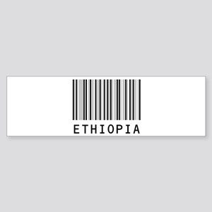 ETHIOPIA Barcode Bumper Sticker