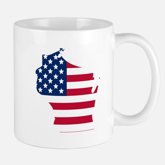 Wisconsin American Flag Mugs