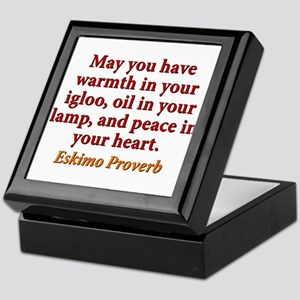May You Have Warmth In Your Igloo Keepsake Box