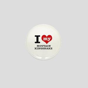 I love my mountain kingsnake Mini Button