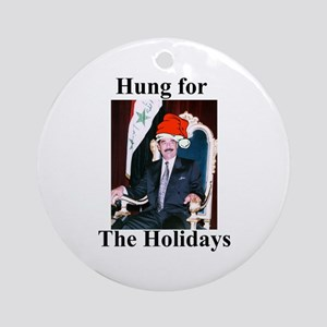 Saddam Hussein Hung for the Holidays Ornament (Rou