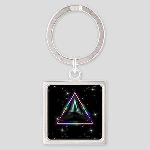 Mystic Prisms - Pyramid - Square Keychain