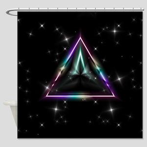Mystic Prisms - Pyramid - Shower Curtain