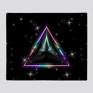 Mystic Prisms - Pyramid - Throw Blanket