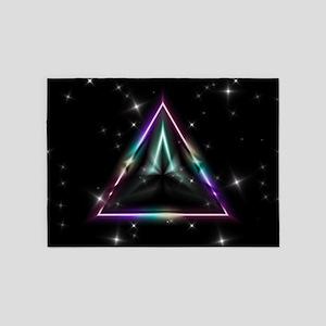 Mystic Prisms - Pyramid - 5'x7'Area Rug