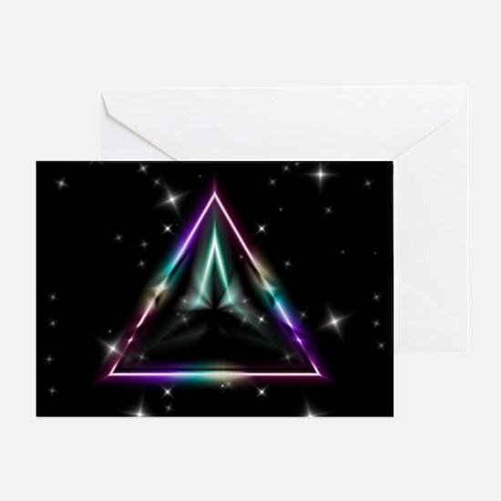 Mystic Prisms - Pyramid - Greeting Card