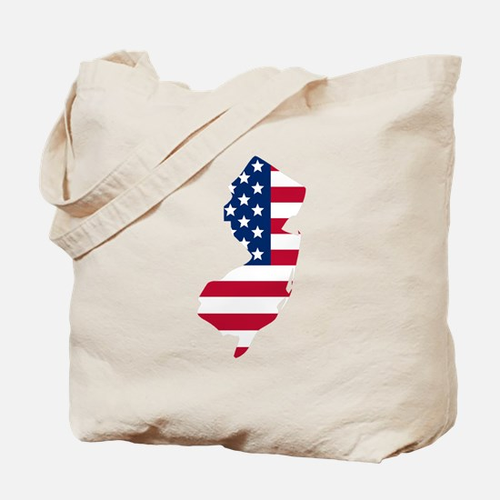 New Jersey American Flag Tote Bag