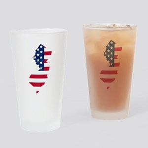 New Jersey American Flag Drinking Glass