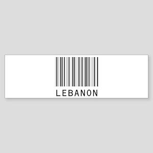 LEBANON Barcode Bumper Sticker