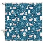 Funky Cat Shower Curtain