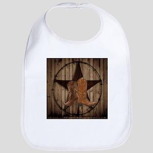 cute western cowgirl Bib