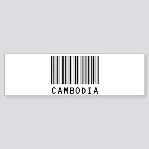 CAMBODIA Barcode Bumper Sticker