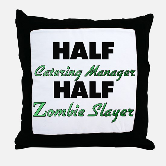 Half Catering Manager Half Zombie Slayer Throw Pil