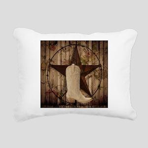 cute western cowgirl Rectangular Canvas Pillow