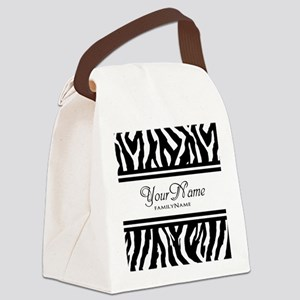 Custom Animal Print Canvas Lunch Bag