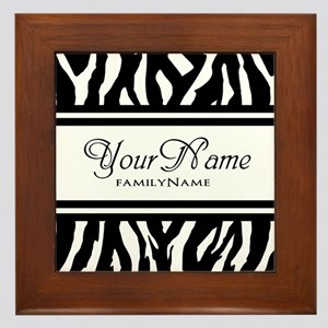 Custom Animal Print Framed Tile