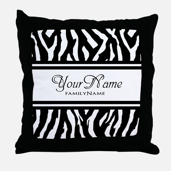 Custom Animal Print Throw Pillow